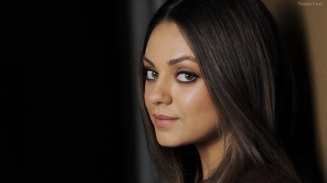 Mila Kunis, Wallpaper, Charm, Cute, Celebrity, White, Black, Original